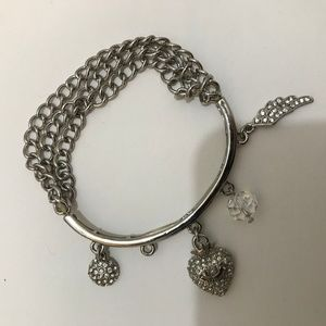 Juicy Couture Charm Bracelet, Silver-tone